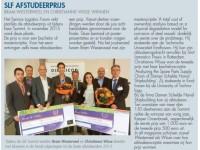 Publiciteit voor SLF Afstudeerprijs