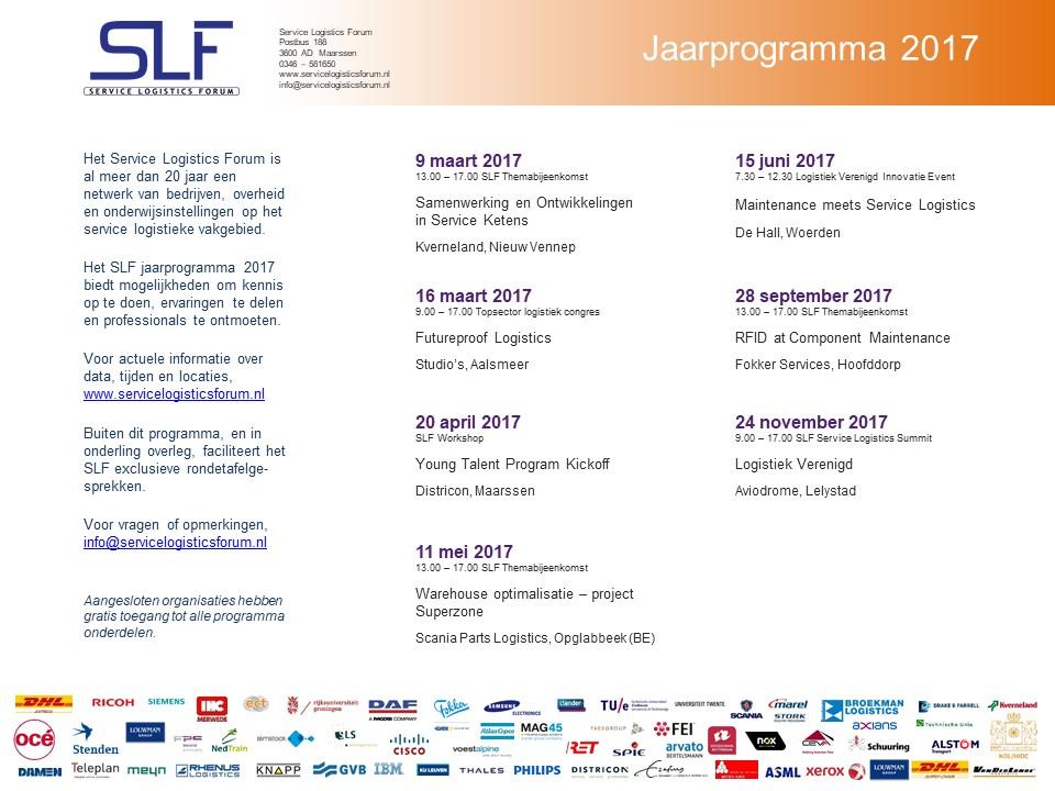 SLF Jaarprogramma 2017