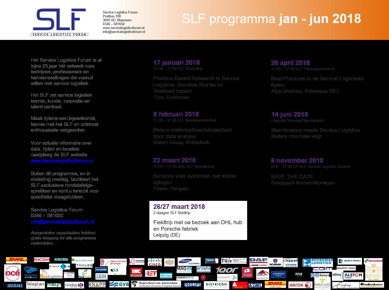 SLF jaarprogramma 2018