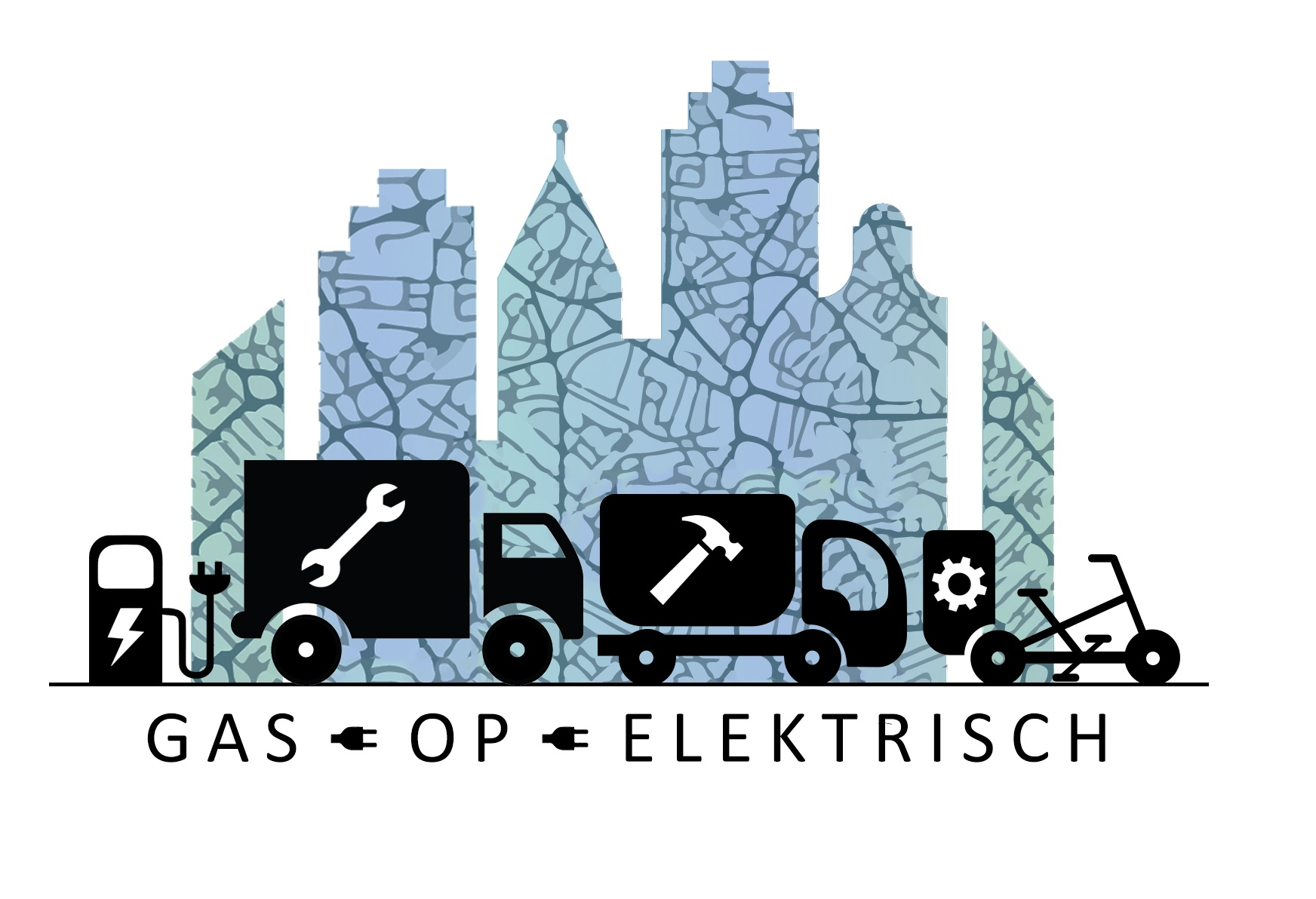 Gas op electrisch logo